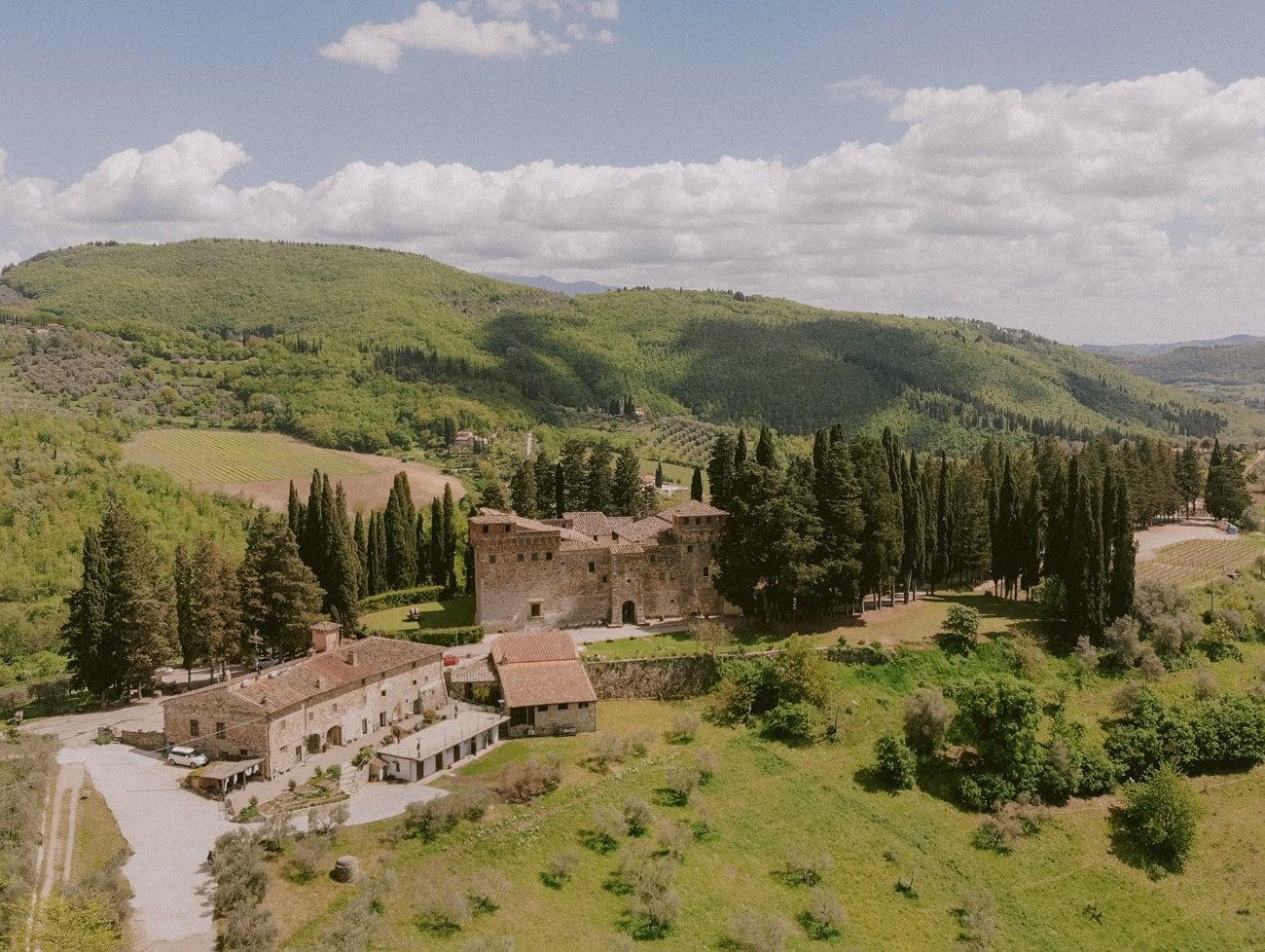 the Trebbio Castle from above