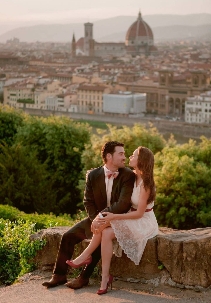 Duomo view for this spot in Florence for Alexandra and Jay's engagement photos