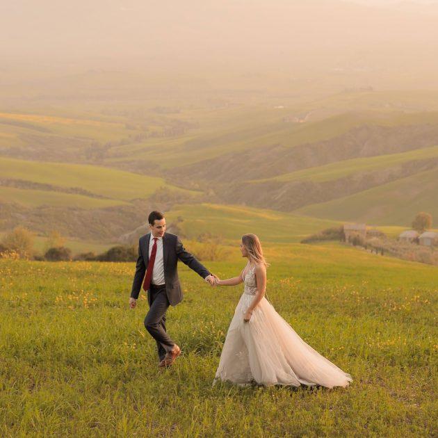 honeymoon session in Valdorcia