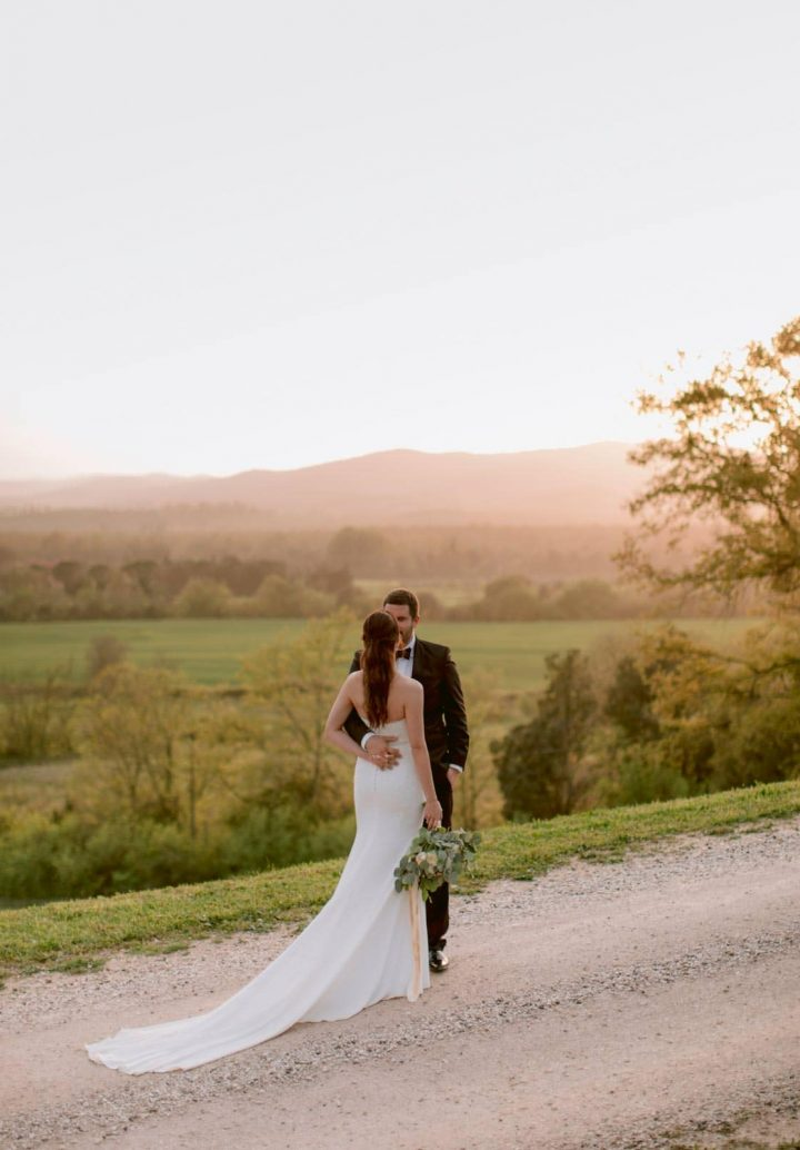 sunset photos for your wedding in Tuscany