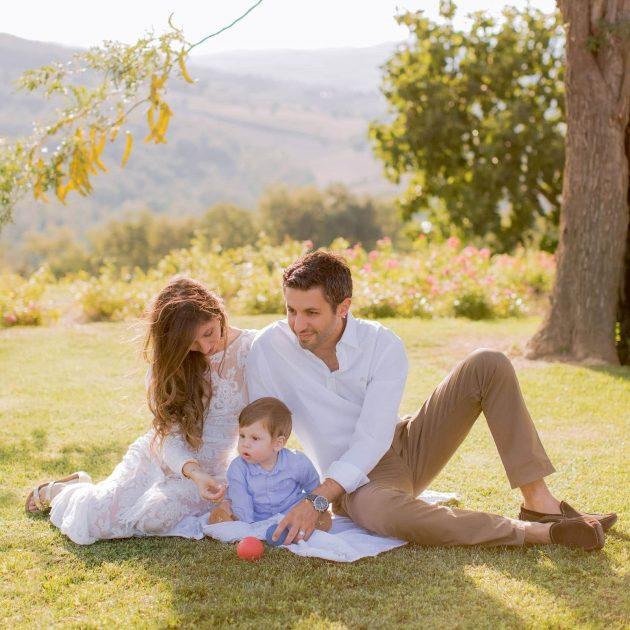 Family photos in Tuscany