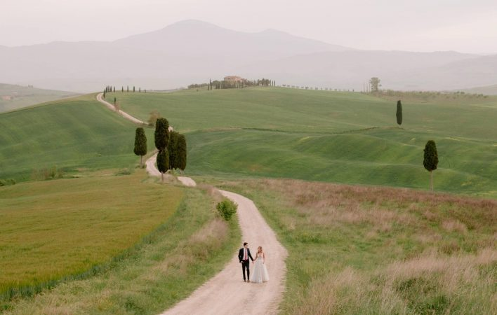 photo session in Tuscany at sunset