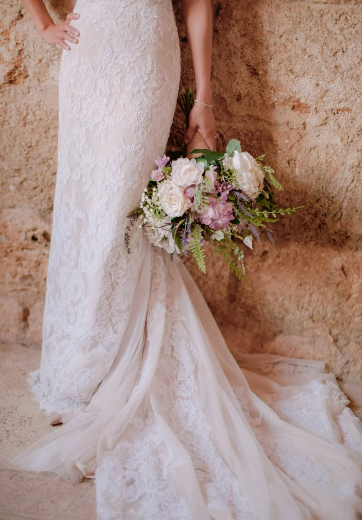 Bridal bouquet in Tuscany