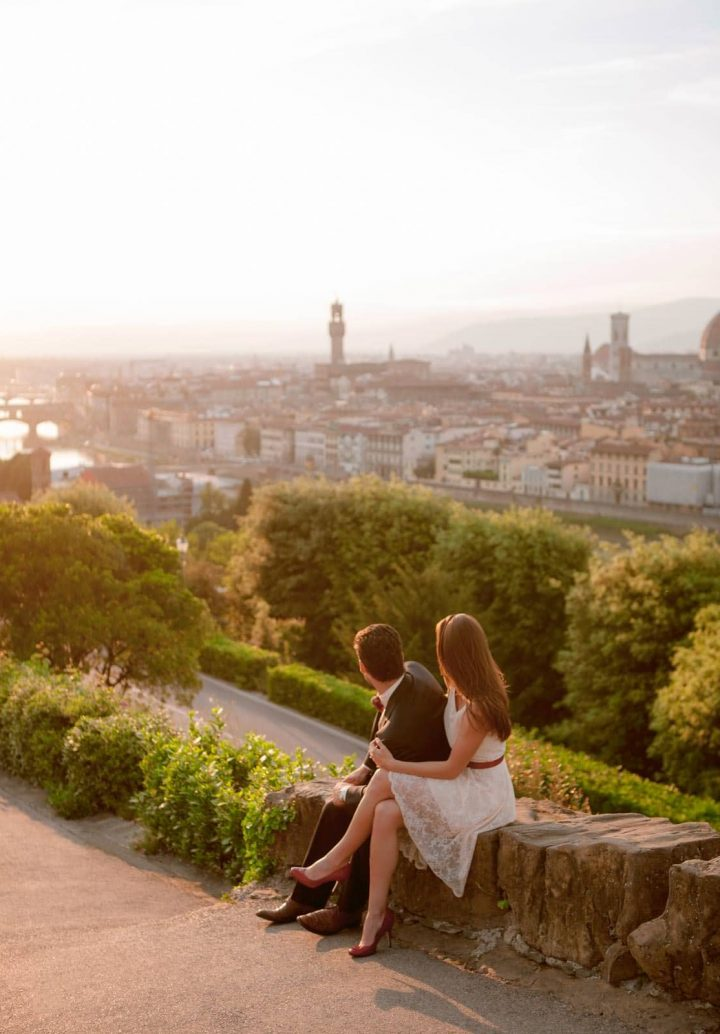 The  most beautiful view of Florence Italy