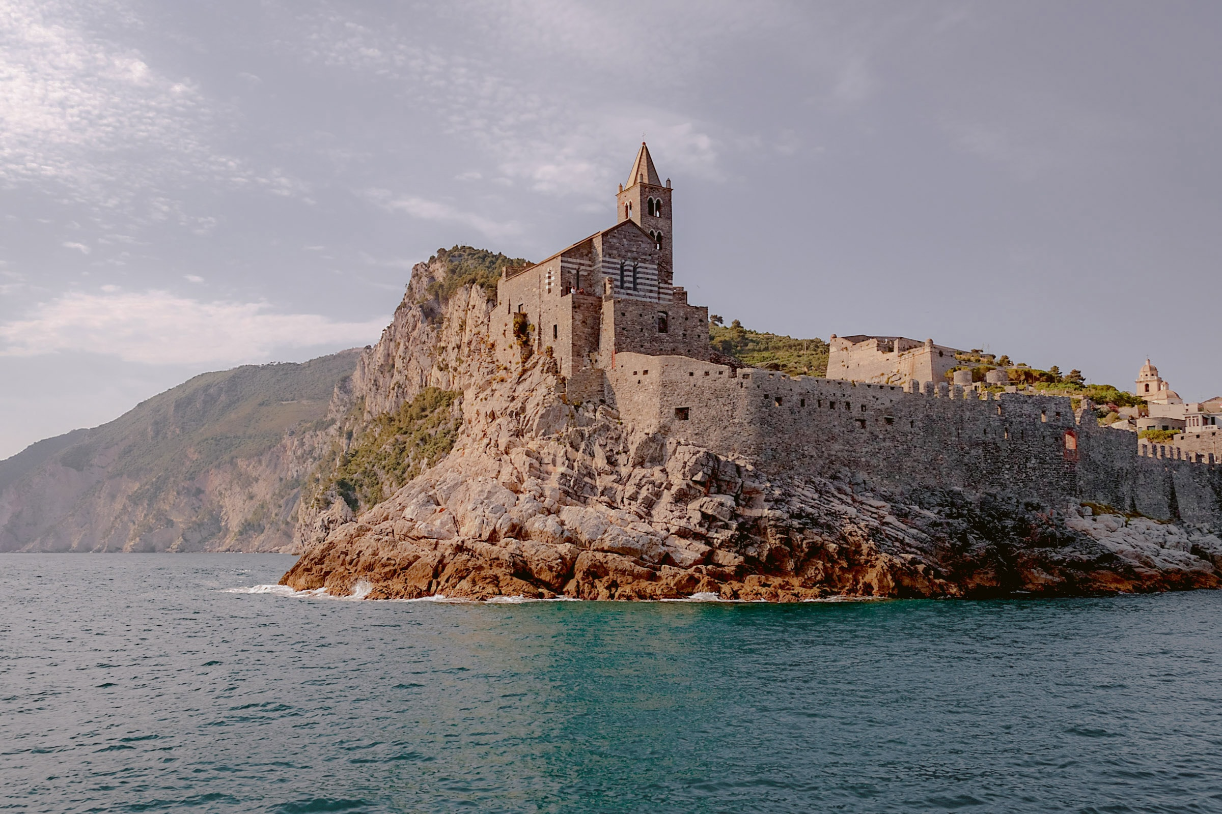 the church of Portovenere from the ocean